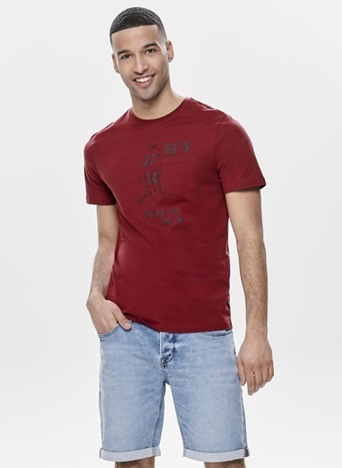 Only & Sons Only & Sons T-Shirt Bordo